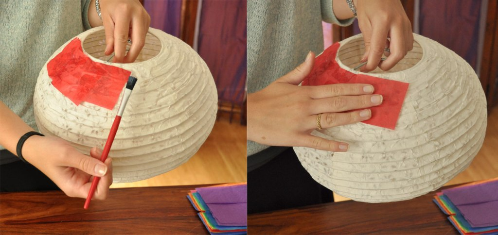 craft a rainbow lantern