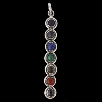 Crystal & Sterling Silver Chakra Pendant