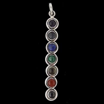 Crystal & Sterling Silver Chakra Pendant