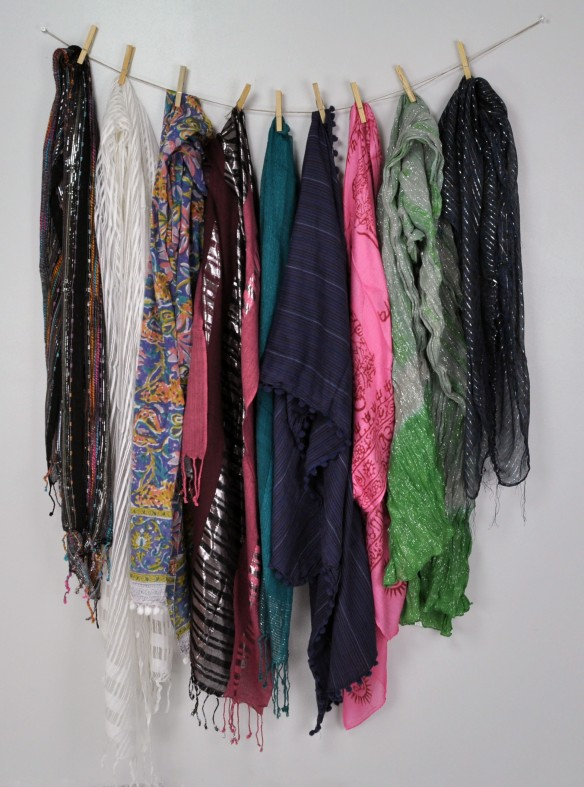 Clothespin scarvesies