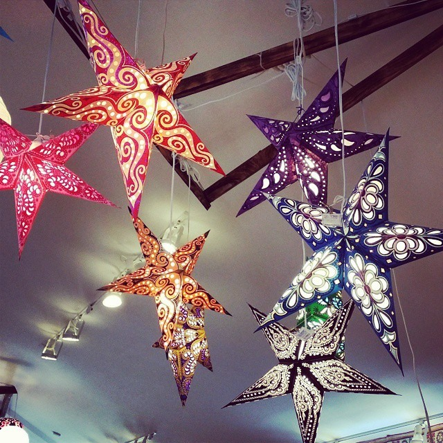 A gorgeous galaxy of star lanterns graces us with their glow at the Newcastle store!